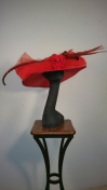 """Ruby"" -- a Kentucky Derby hat by Angie (already sold, sadly)"
