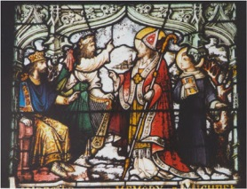 St. Patrick defeats the pagan priests in argument