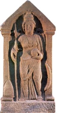The Celtic goddess Brigantia, the original St. Brigid