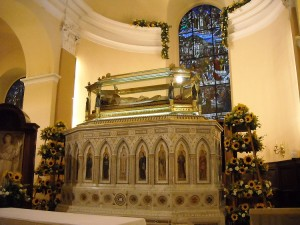 St. Ubaldo's incorruptible body in the basilica at Gubbio, beyond all woes