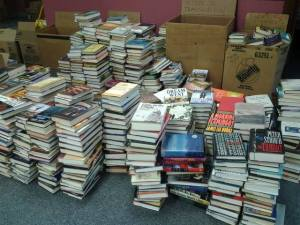 Awaiting you at the Five College Book Sale