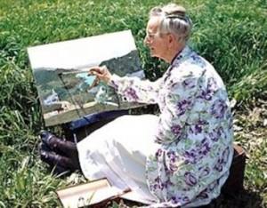 Grandma Moses at Work