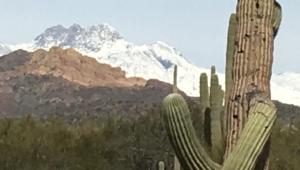 Snow on Four Peaks